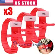 3 Emergency One Hand Application Tourniquet Rapid Outdoor First Aid Kit