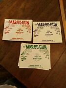 Lot Of Mar-bo-gun Toy Mable Shooter Toy Packaging Cards