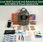 Custom Enhanced Molle Pouch Individual First Aid Kit Ifak With 283 Items