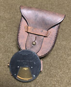 Wwi Us Keuffel And Esser Co. Eng. Dept. U.s.a. 1916 Clinometer/1918 Leather Pouch