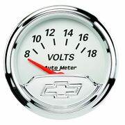 Auto Meter For 2-1/16 Voltmeter 8-18v Air-core Chevy Vintage - 1391-00408