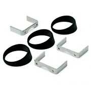 Autometer For 2-5/8 Gauges Mount Angle Rings 3 Packs Black - 3244