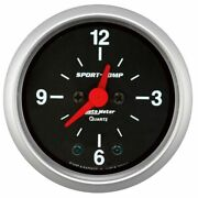 Auto Meter For F2-1/16 Clock 12 Hour Sport-comp - 3385