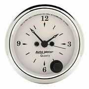 Auto Meter For 2-1/16 Clock 12 Hour Old-tyme White - 1686