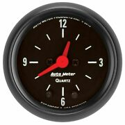 Auto Meter For 2-1/16 Clock 12 Hour Z-series - 2632
