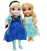 Disney Frozen Collection Elsa Toddler Doll Lot Of 2 Dolls Dress Braids Toy Play