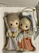 """Precious Moments """"born The King Of Angels"""". Mary Joseph Baby Porcelain Ornament"""
