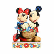 Rare Jim Shore Disney Traditions Mickey And Minnie With Basket Figurine 6005976