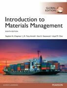 Introduction To Materials Management Global Edition New Chapman Steve Pearson Ed