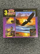 Sunset Glow 3 Jigsaw Puzzles - Big Cats - 500 - 300 - 100 Pieces - By Ceaco 2006
