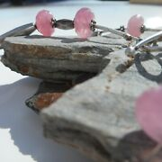 Pink Ruby Liquid Silver Handmade Set Necklace And Bracelet
