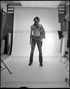 Early 1970s Shirtless Hippie Cowboy 4x5 In Large Format Bandw Negative Gay Int