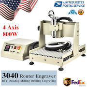 4 Axis 800w Cnc 3040 Router Engraver Pcb Wood Metal Engraving Drill Mill Machine