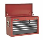 Sealey Ap22509bb Topchest 9 Drawer With Ball Bearing Runners - Red/grey
