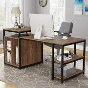 Space Saving Desk And Table Computer Desk W/ Shelf 47 Home Office Furniture