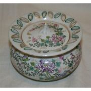 Antique 19th Original Japan Rare Bowl With Lid Hand Painted