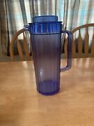 New Vintage Tupperware 2 Qt Ice Blue Acrylic Preludioandtrade Pitcher