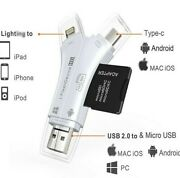 Micro Tf/sd Memory Card Reader Multi-port Card Reader Adapter For Android Iphon