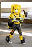 Child Kids Transformers Bumblebee Converting Car Robot Costume Size S M Used