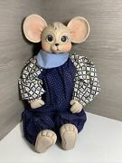 Htf Vintage Mouse Doll Figure Outfit Porcelain Ceramic Collectable No Chips 17andrdquo