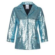 Nwt 350 In The Mood For Love Sofia Classic Sequin Relaxed Fit Blazer Jacket S