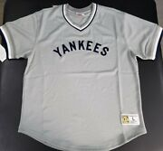 New Mitchell And Ness Mlb New York Yankees Mesh Jersey Short Sleeve- Large