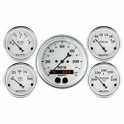 Auto Meter For Old Tyme White Speedometer / Voltmeter /fuel Level Gauge Kit 1650