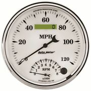 Auto Meter For Old Tyme White Ii5in Size Speedometer/tachometer Combo Gauge 1290
