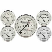 Auto Meter For Old Tyme White Speedometer / Voltmeter /fuel Level Gauge Kit 1601