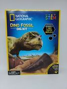 National Geographic Stem Dino Fossil Tooth Poop Dig Learning Science Kit New