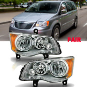Headlights Fit For 2011-2018 Dodge Grand Caravan 2008-2016 Town And Country Pair