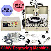 Usb Cnc 3040 5 Axis 800w Router Engraver 3d Engraving Wood Drill Milling Machine