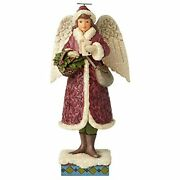 Jim Shore Heartwood Creek Victorian Christmas Angel With Cards - Ships Globally
