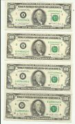 Complete Set Of 12 Federal Reserve Bank 100 Notes Small Portrait