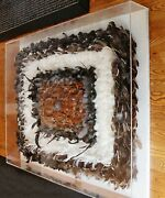 Contemporary Modern Lucite Framed Greg Copeland Style Feather Wall Art 1980s