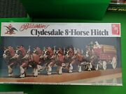 Amt Budweiser Clydesdale 8-horse Hitch Model Kit- New- Factory Sealed