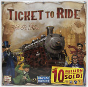 Ticket To Ride By Alan Moon Train Adventure Board Game-usa Days Of Wonder New