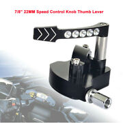 7/822mm Cnc Aluminum Thumb Throttle Assembly Speed Control Lever For Kawasaki