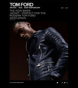 Ultimate Rare 5390 Tom Ford Icon Biker Jacket, Incredible Fit And Details