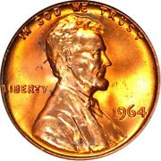 1964 1c Ddr Die 1 Lincoln Memorial Cent Anacs Ms65rd 214