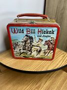 Vintage 1955 Wild Bill Hickok And Jingles Lunchbox With Thermos