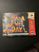 Conkerand039s Bad Fur Day 64 2001 Brand New Sealed Free Secured Shipping Rare