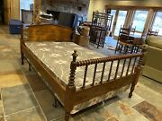Antique 3/4 Bed, With Gently Used Mattress Set