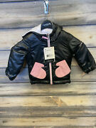 Girls Nifty Reversible Insulator Jacket Color White/black Size 4