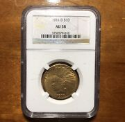 1911-d 10 Ngc Au58 Key Date Ngc - Indian Eagle - Gold Coin