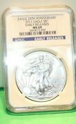 2011 American Silver Eagle 25th Anniversary Ngc Ms69 Early Releases