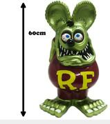 Rat Fink Jumbo Coin Bank Metallic Green Funko