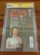 Star Wars 1 2015 Vault Edition Signed Carrie Fisher Cgc 9.8 Nm/mint