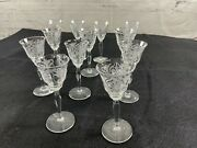 Antique Cordial/sherry Crystal Stemware Set Of 11