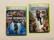 2 Game Lot Shadowrun + Crackdown Crack Down Complete Cib Xbox 360 Games Tested
